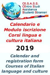 Calendario Corsi Lingua Italiana 2018